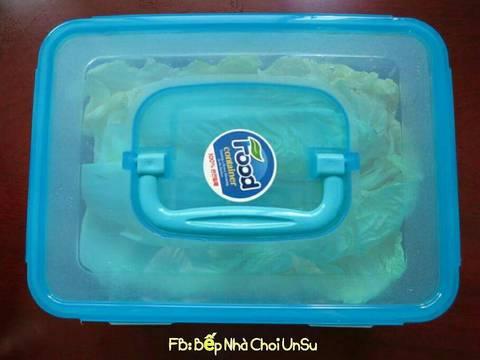 Kim chi cải thảo muối xổi 배추걸절이 recipe step 4 photo
