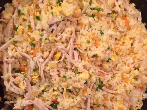 Cơm chiên giò trứng recipe step 5 photo