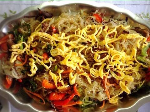 Miến xào Japchae Hàn Quốc recipe step 10 photo