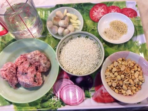 Bánh bột báng nhân thịt recipe step 1 photo