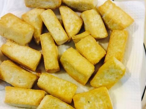 Nấm xào cải thìa với đậu phụ recipe step 5 photo