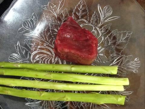 Cháo thịt bò măng tây recipe step 1 photo