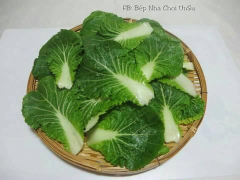 Kim Chi cải bẹ xanh muối xổi 봄동겉절이 recipe step 1 photo