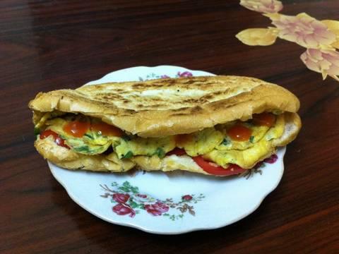 Bánh mì trứng đơn giản recipe step 6 photo
