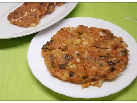 Kimchi Pancake bước làm 4 hình
