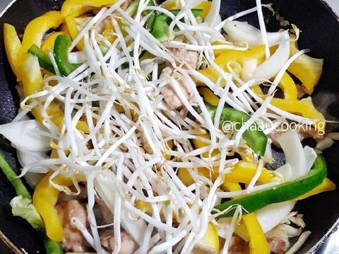 Bún xào Singapore (vị cà ri) recipe step 7 photo