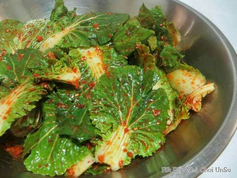 Kim Chi cải bẹ xanh muối xổi 봄동겉절이 recipe step 4 photo