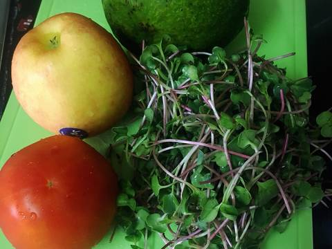 #eatclean - Salad rau mầm hoa quả thập cẩm recipe step 1 photo