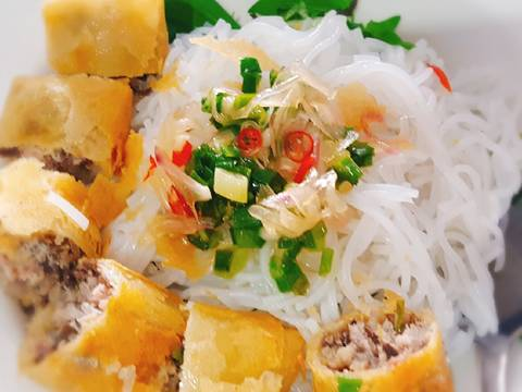 Bún chả giò recipe step 4 photo