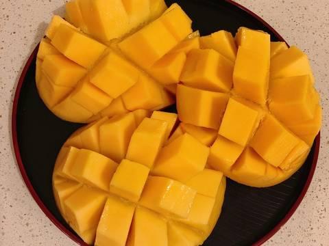 Mango Pudding bước làm 7 hình