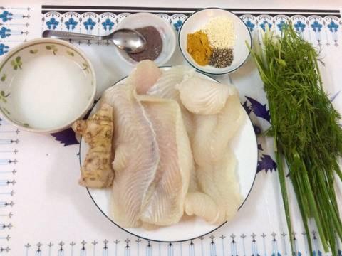 Cá Ba Sa nghệ xào thì là recipe step 1 photo