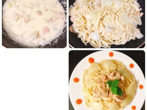 Pasta cá ngừ sốt kem recipe step 4 photo