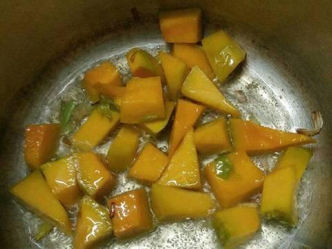 Chả quết nấu canh bí đỏ recipe step 3 photo