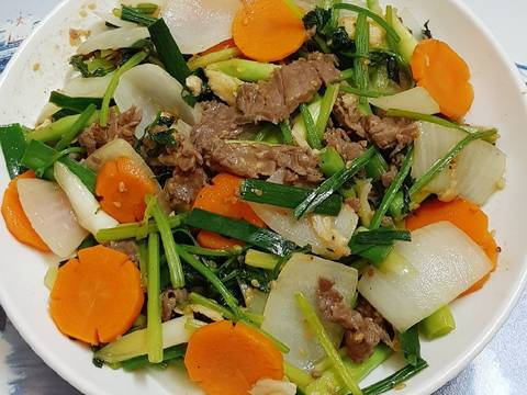 Thịt bò xào rau củ recipe step 4 photo
