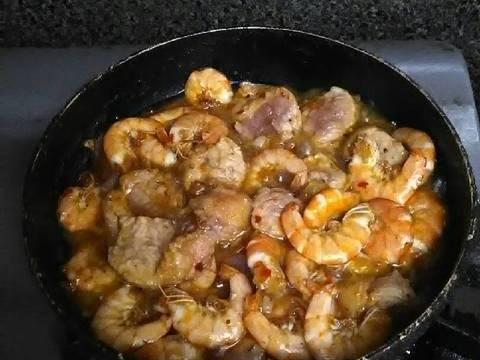 Tôm rang thịt dưa muối recipe step 3 photo