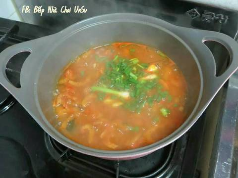 Súp Bí Đỏ 호박찌개 recipe step 7 photo