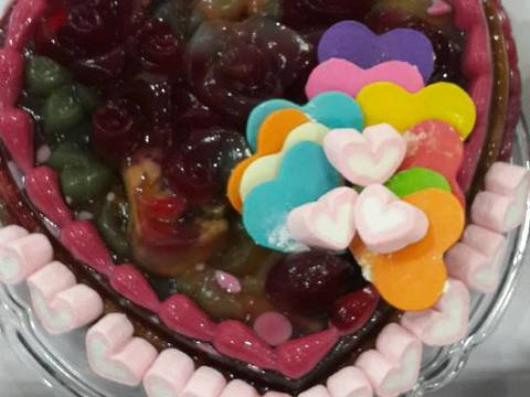 Bánh rau câu tình yêu recipe step 6 photo