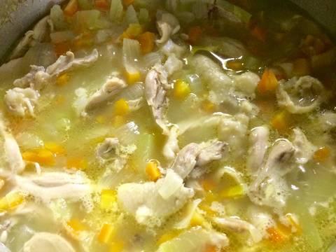 Canh súp gà cho bé và mẹ recipe step 8 photo