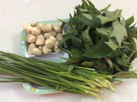 Canh rau lang nấu nấm rơm recipe step 1 photo