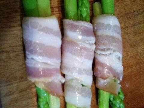 Măng Tây Cuộn bacon recipe step 2 photo