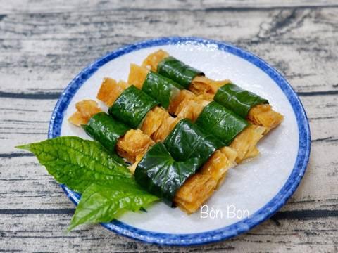 Tàu Hũ Ky Cuộn Lá Lốt (Món Chay) recipe step 5 photo