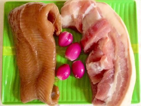 Mắm cá lóc chưng thịt recipe step 1 photo