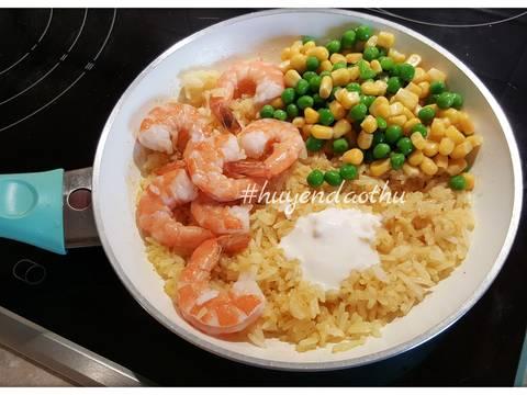 Cơm rang Cà ri với Tôm, sữa dừa #cleaneating recipe step 4 photo