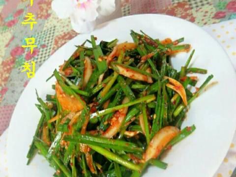 Nộm hẹ & hành tây 부추 양파 무침 recipe step 5 photo
