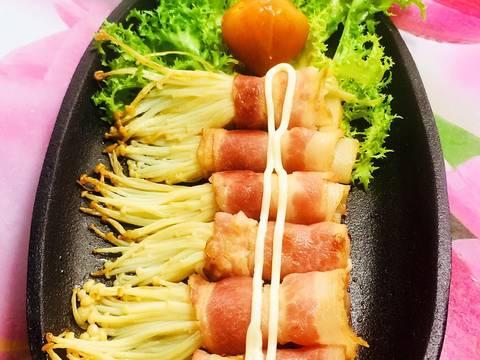 Thịt Xông Khói Cuộn Nấm recipe step 2 photo