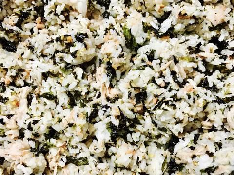 Cơm nắm cá hồi cá ngừ rong biển recipe step 2 photo