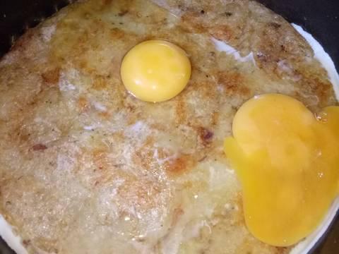 Bánh Chưng Chiên Trứng bước làm 2 hình