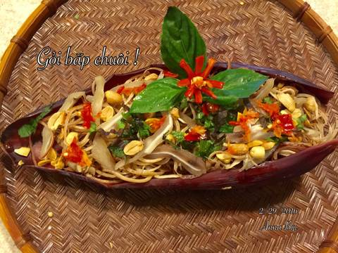 Gỏi bắp chuối tai heo ! recipe step 8 photo