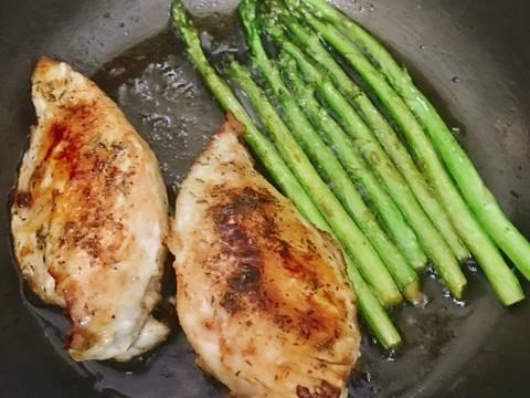 Thịt Ức Gà Chiên Măng Tây recipe step 3 photo