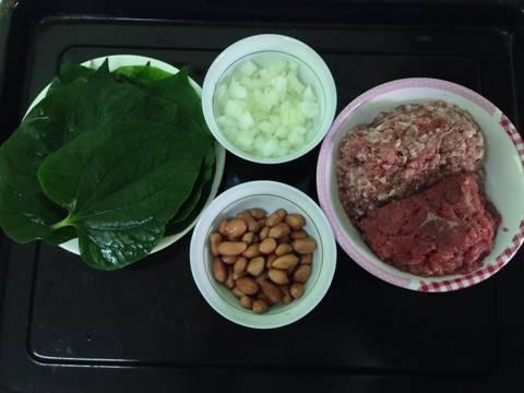 THỊT BÒ BĂM SA TẾ CUỘN LÁ LỐT NƯỚNG recipe step 1 photo