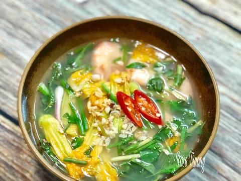 Canh Chua Tôm Bông Bí recipe step 3 photo