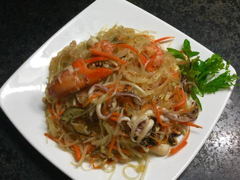 Miến xào hải sản recipe step 7 photo