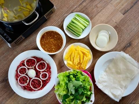 Bò nhúng giấm nhúng giấm recipe step 4 photo