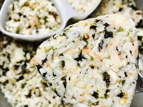 Cơm nắm cá hồi cá ngừ rong biển recipe step 4 photo