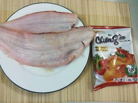 Cá lưỡi trâu Ba Tri ( Thờn bơn ) chiên giòn recipe step 1 photo