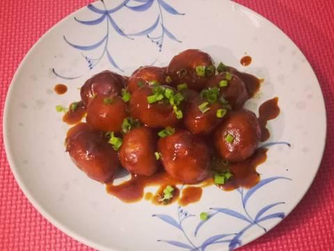 Khoai tây bi hồng xíu recipe step 6 photo