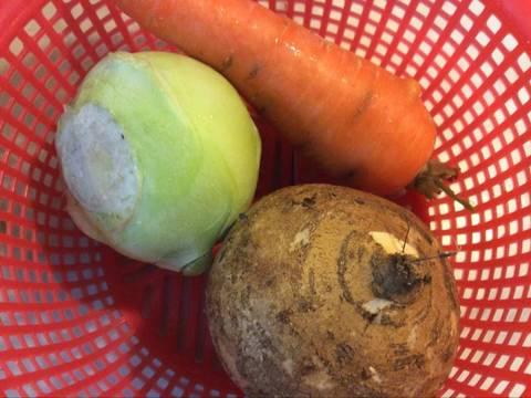 Phổ tai kho củ, đậu và nấm recipe step 1 photo