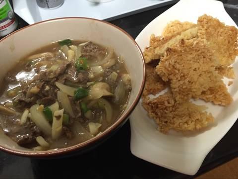 Cơm cháy Ninh Bình sốt thịt bò recipe step 5 photo