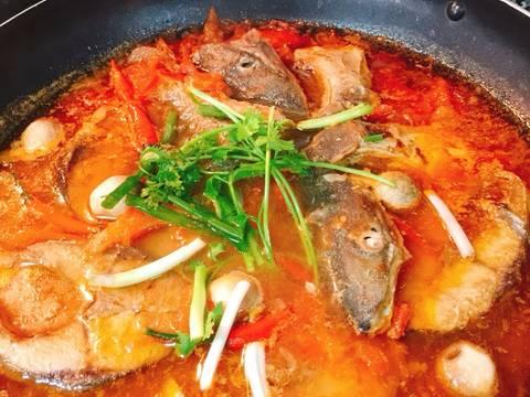 Cá Cam kho cà chua recipe step 4 photo