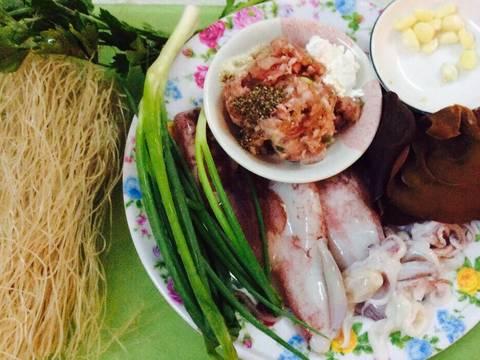 Canh mực nhồi thả miến dong recipe step 1 photo
