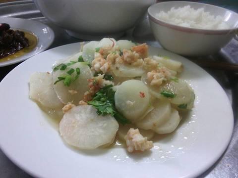 Củ cải trắng xào tôm recipe step 4 photo