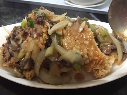 Cơm cháy Ninh Bình sốt thịt bò recipe step 7 photo