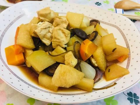 Phổ tai kho củ, đậu và nấm recipe step 9 photo