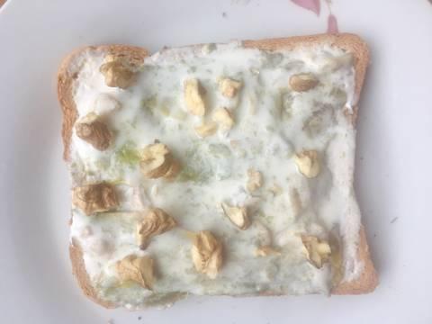 (Eat clean) Bánh mì đen sữa chua bước làm 4 hình