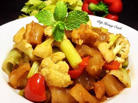 Gân Bò Xào Ớt Sả Tế recipe step 5 photo