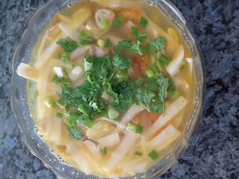 Canh chua cổ hủ dừa chay recipe step 5 photo